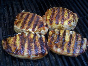 Curry Rubbed Pork chops