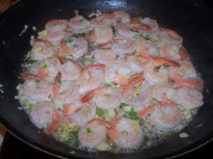Cooked Shrimp.
