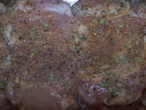 Pork Loin Roast with Spices.
