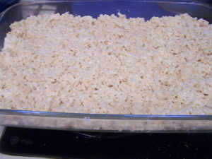 Rice Crispy Treats in Pan.