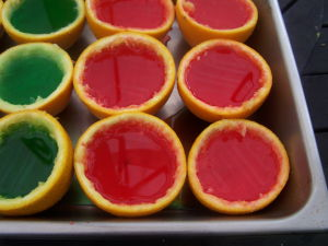 Orange Cups with Jello