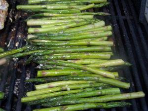 Asparagus on grill.