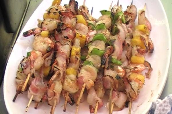 Shrimp & Pineapple Kabobs