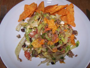 Recipe for Taco Salad with Doritos