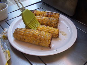 Butter Coated BBQ Corn