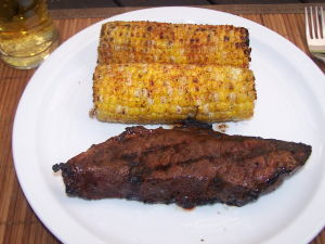 Marinated Short Beef Ribs with BBQ Corn