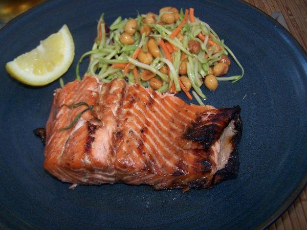 Maple Rosemary Glazed Grilled Salmon