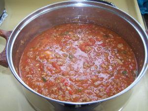 Sausage, Meat & Tomato Sauce