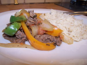 Sliced Beef with Onions and Peppers – Quick, Easy Weeknight Meal
