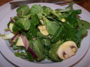 Salad Vinaigrette Recipes – Mache & Mushroom Salad with Mustard Vinaigrette