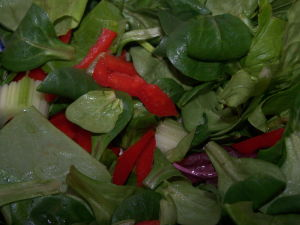Simple Spinach Recipes – Baby Spinach & Red Pepper Salad