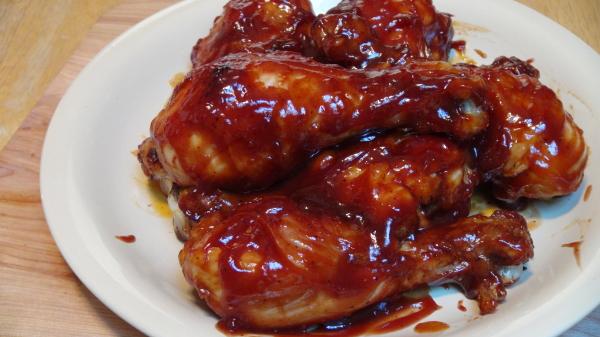 BBQ chicken legs, Cinnamon Pops, Arugula Salad 021
