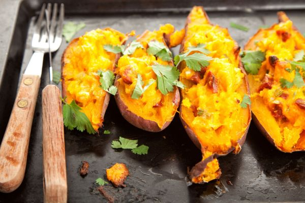 Filled sweet potatoes