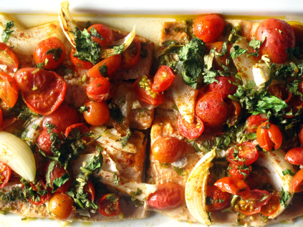 Baked Trout with Cherry Tomatoes web