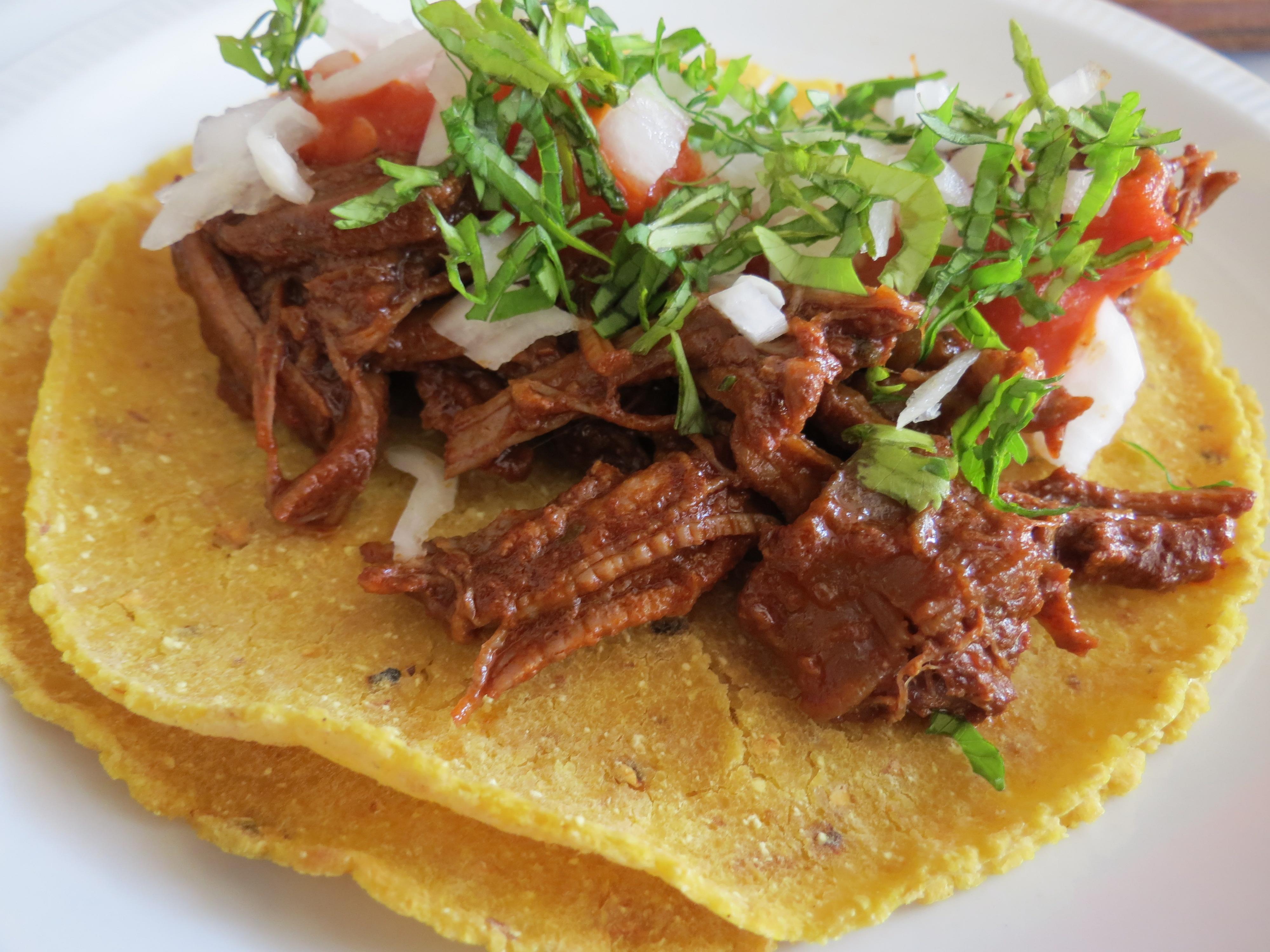 Tacos de birria de res the frugal chef for Como cocinar carne de chivo