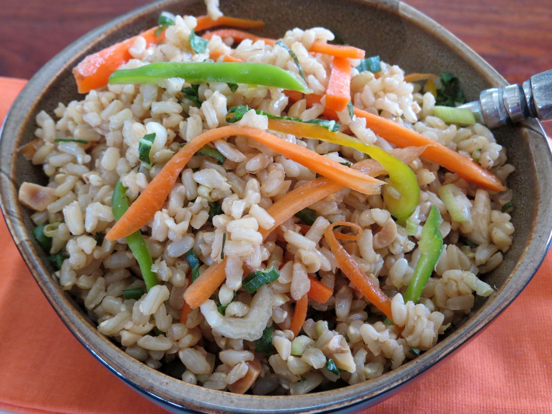 Ensalada de arroz integral the frugal chef - Ensalada de arroz light ...