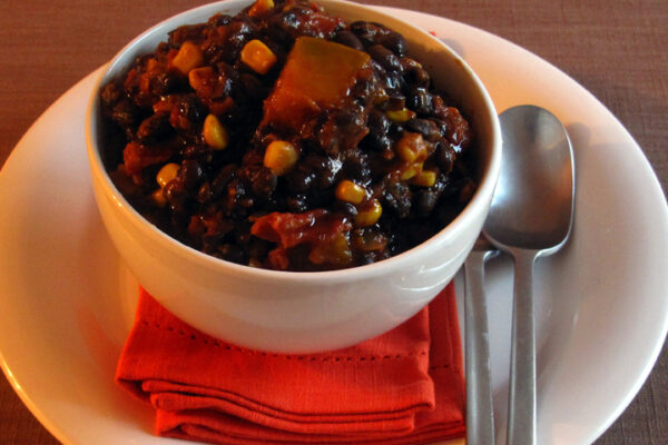 Butternut, Corn Blackbean Chipotle Chili