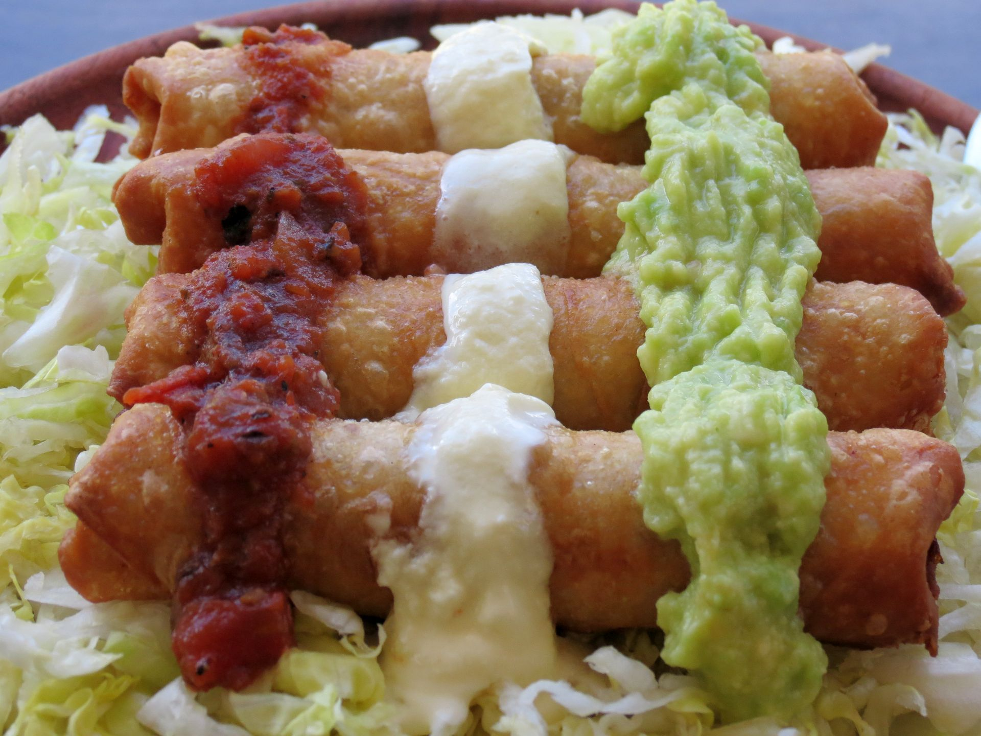 Chicken Flautas with Chipotle - The Frugal Chef