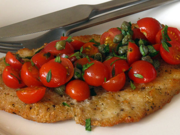 Chicken Milanesas with Fresh Tomato Salsa pg-125,126(1)