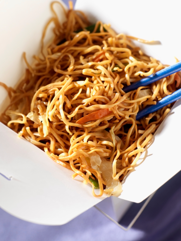 Chinese Chow Mein in Take Out Box-Photographed on Hasselblad H1-22mb Camera