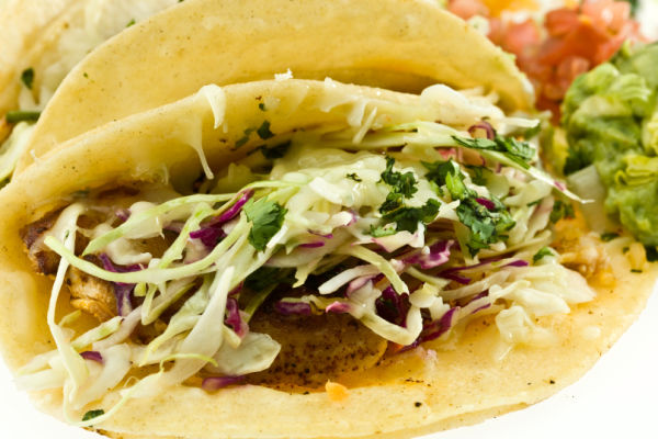 Grilled fish tacos with slaw the frugal chef for Good fish for fish tacos