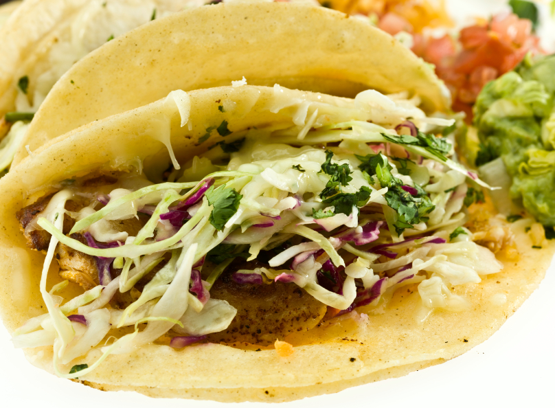 Grilled fish tacos with slaw the frugal chef for Best grilled fish taco recipe