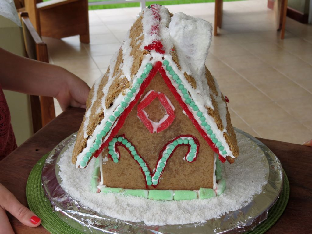 GInger Bread House finished back