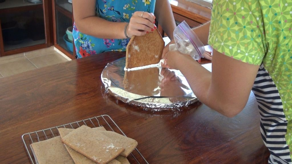 Ginger Bread House - Reinforcing back wall