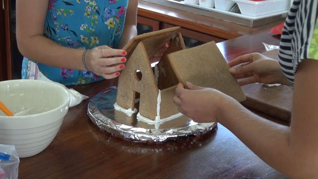 Ginger Bread House - measuring roof
