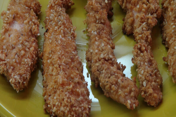 Honey Sesame Chicken Fingers 2