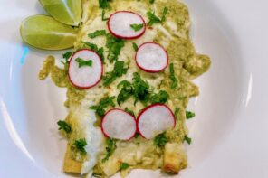 Chicken Enchiladas with Creamy Salsa Verde