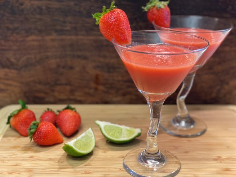 Frozen Strawberry Daiquiris