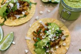 Potato Tacos with Chorizo