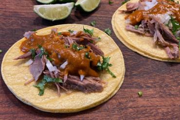 Carnitas Tacos Salsa Ranchera
