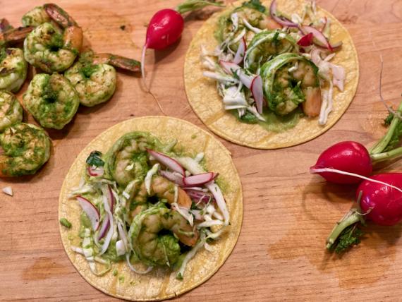 Marinated Shrimp Tacos
