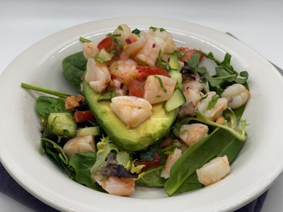 Shrimp Salad Stuffed Avocado