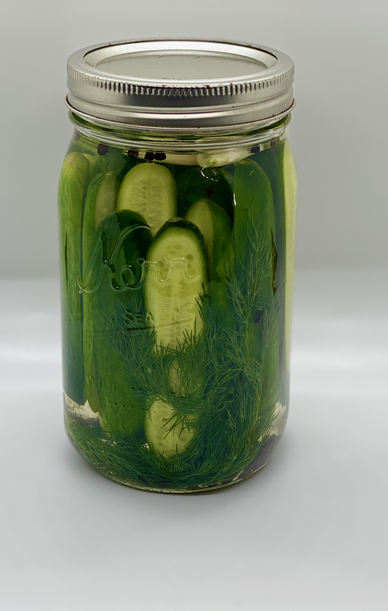 Homemade Sour Dill Pickles