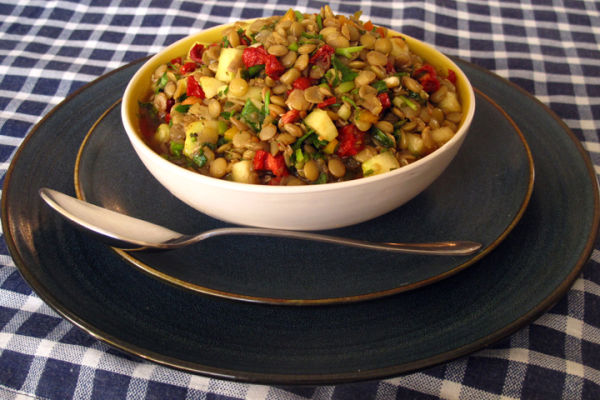 Lentil Salad with Sun-Dried Tomatoes