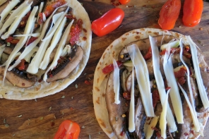 Pita Bread Pizza with Portabello