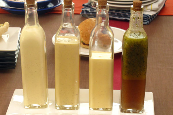 Parmesan Peppercorn;Honey Mustard;ColeSlaw; Italian Dressings