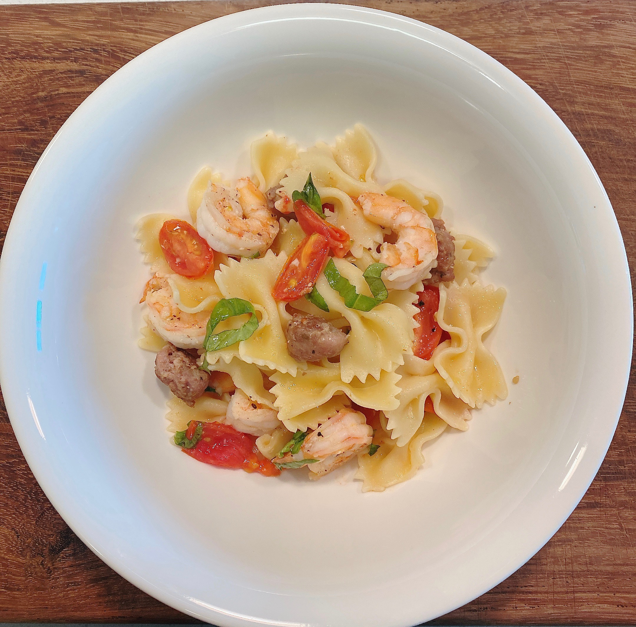 Shrimp and Sausage Pasta