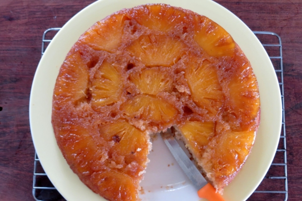 This pineapple upside down cake recipe is very simple to make and a ...