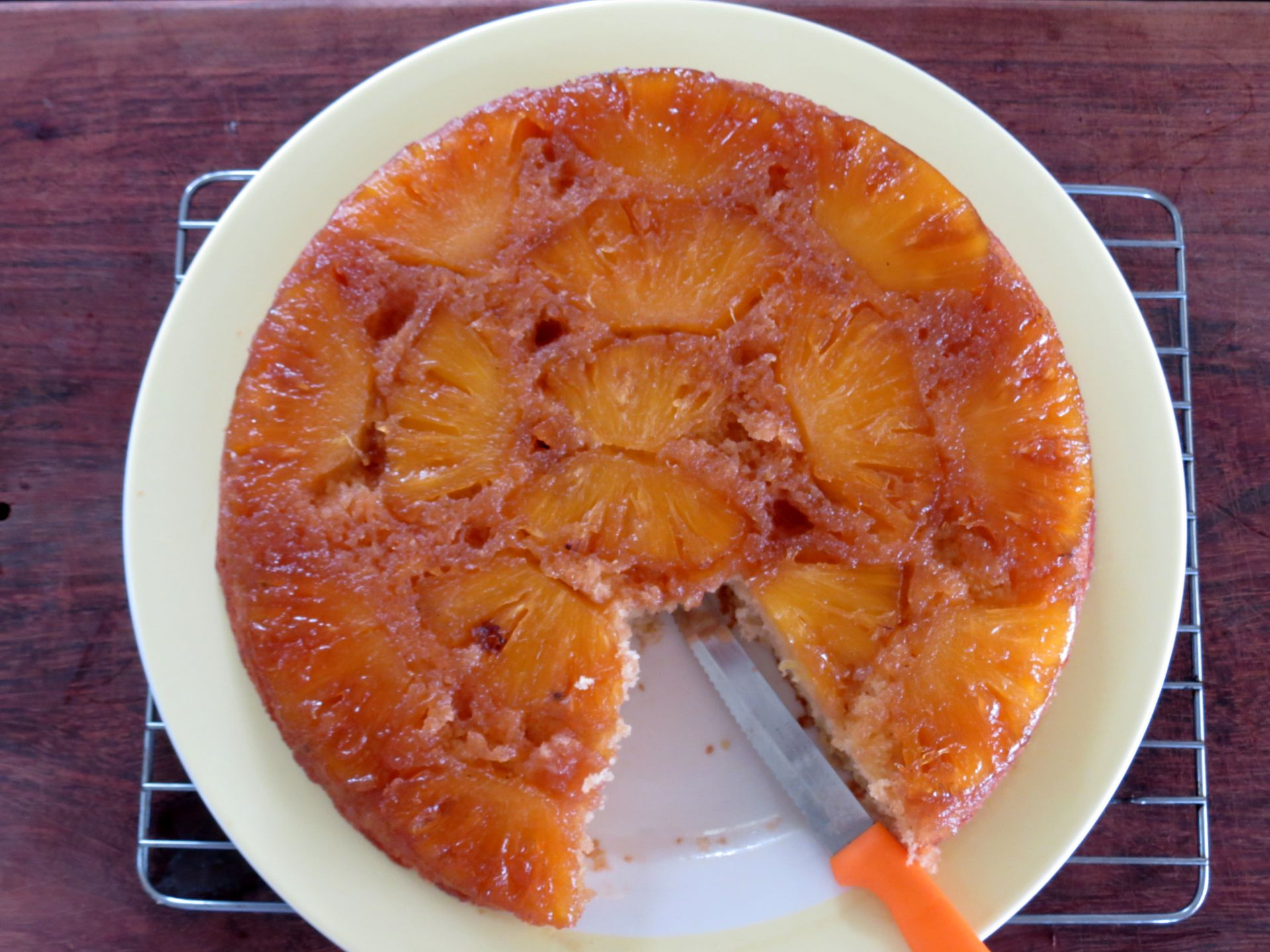 Pineapple Upside Down Cake Recipe - The Frugal Chef
