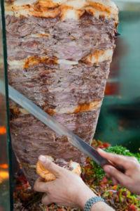 Shawarma on a spit