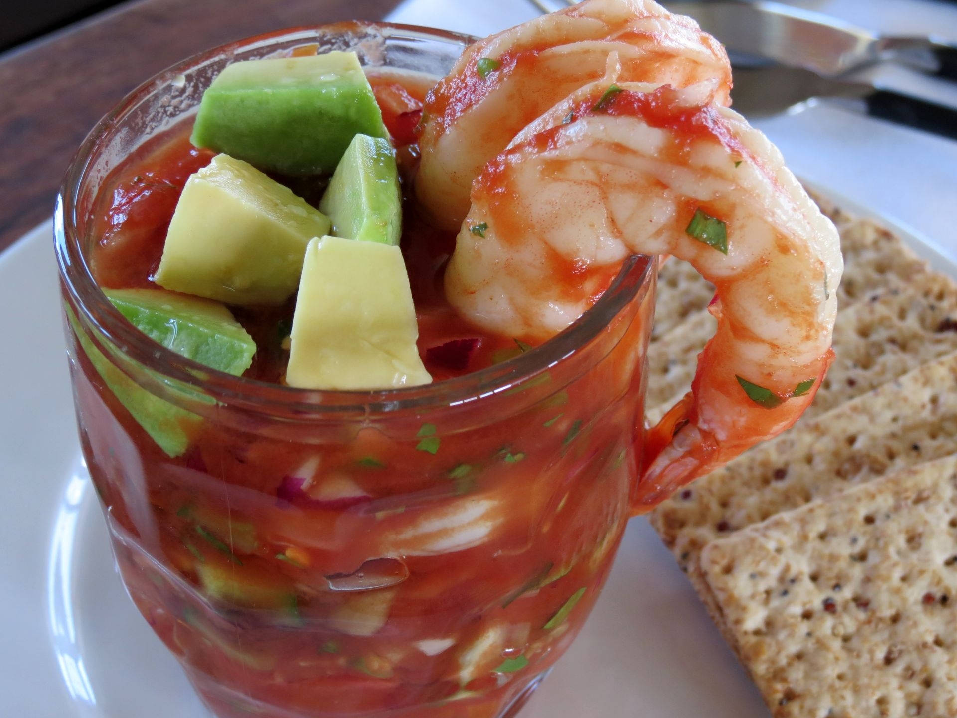 Mexican Shrimp Cocktail - The Frugal Chef