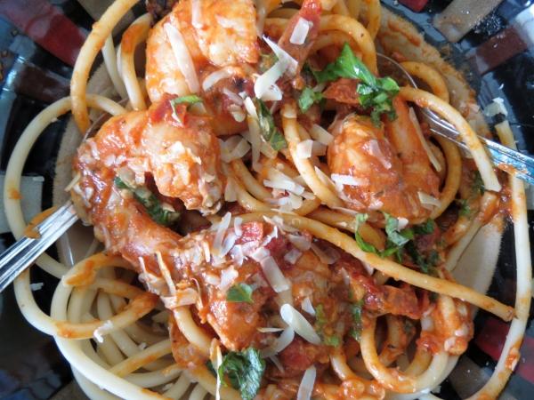 Shrimp Roasted Tomato Pasta