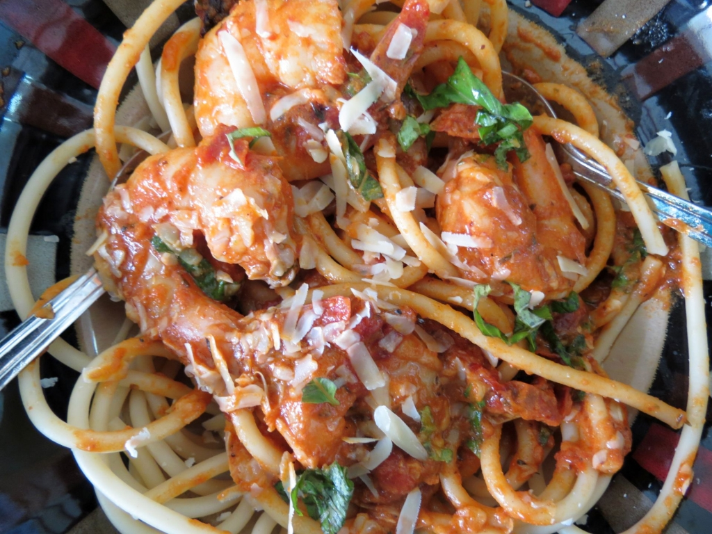 Shrimp Roasted Tomato Pasta