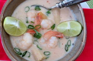 Shrimp Soup with Coconut Milk