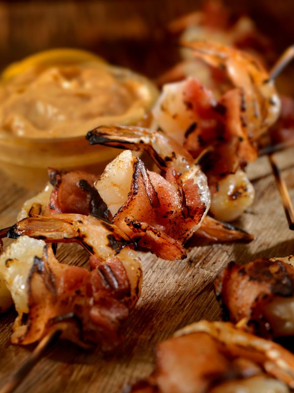Shrimp and Bacon Skewers