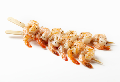 Shrimp Skewers -Photographed on a Canon EOS-1 Mark 3